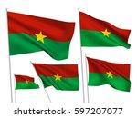 burkina faso vector flags set....