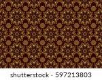 traditional orient ornament.... | Shutterstock . vector #597213803