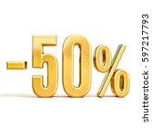 gold sale 50   gold percent off ... | Shutterstock . vector #597217793