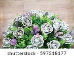 flowers made of money   best...   Shutterstock . vector #597218177