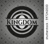 kingdom retro style black emblem   Shutterstock .eps vector #597242033