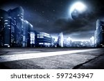 background of city street and... | Shutterstock . vector #597243947