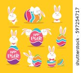 Collection Of Easter Bunny And...