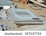 carved asbestos cement...   Shutterstock . vector #597257753