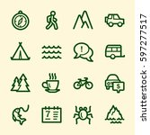travel web icons.  vacation and ... | Shutterstock .eps vector #597277517