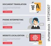 translation service concept...   Shutterstock .eps vector #597295307