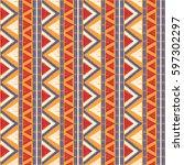 tribal pattern vector seamless. ... | Shutterstock .eps vector #597302297