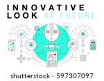 trendy innovation systems... | Shutterstock .eps vector #597307097