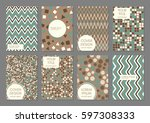 collection of creative... | Shutterstock .eps vector #597308333
