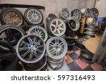 wheel  car wheel  car wheel and ... | Shutterstock . vector #597316493