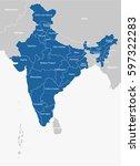 india map | Shutterstock .eps vector #597322283