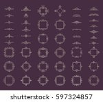 huge rosette wicker of border... | Shutterstock .eps vector #597324857
