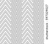 zigzag lines. jagged stripes.... | Shutterstock .eps vector #597329027