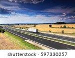 truck on the road | Shutterstock . vector #597330257