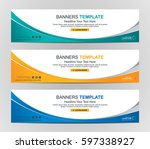 abstract web banner design... | Shutterstock .eps vector #597338927