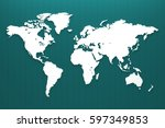 world map continent on the... | Shutterstock . vector #597349853