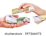 counting money in hands | Shutterstock . vector #597366473