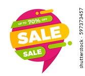 colorful speech bubble sale...   Shutterstock .eps vector #597373457