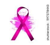 purple satin ribbon. vector... | Shutterstock .eps vector #597378443