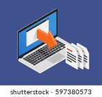 isometric 3d export files.... | Shutterstock .eps vector #597380573