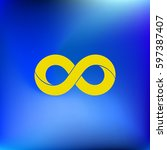 limitless sign icon. infinity... | Shutterstock .eps vector #597387407