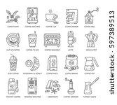 outline web icon set . elements ... | Shutterstock .eps vector #597389513