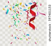 colorful abstract confetti.... | Shutterstock .eps vector #597401153