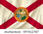 flag of florida state of the... | Shutterstock .eps vector #597412787