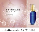 spray bottle innovations... | Shutterstock .eps vector #597418163