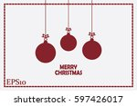 toy  christmas greeting vector... | Shutterstock .eps vector #597426017