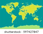world map vector. triangle... | Shutterstock .eps vector #597427847