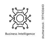 business intelligence vector... | Shutterstock .eps vector #597433643