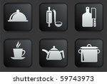 food preparation icons on... | Shutterstock .eps vector #59743973