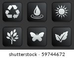 ecology icons on square black... | Shutterstock .eps vector #59744672