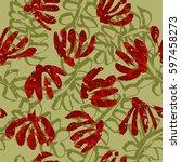 seamless tropical pattern....   Shutterstock .eps vector #597458273