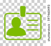 personal badge icon. vector... | Shutterstock .eps vector #597460493