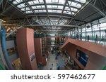 osaka   dec 12  passengers at...   Shutterstock . vector #597462677