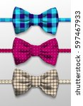 realistic bow tie illustration | Shutterstock .eps vector #597467933