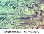 vintage processing. texture ...   Shutterstock . vector #597483077