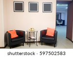 interior of a visitor room in a ... | Shutterstock . vector #597502583
