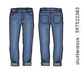 blank templates of women's... | Shutterstock .eps vector #597522383