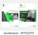 green square annual report... | Shutterstock .eps vector #597523757