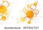 background of hexagonal... | Shutterstock .eps vector #597541727