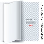 page curl with shadow on... | Shutterstock .eps vector #597544217