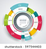 vector circle segments ... | Shutterstock .eps vector #597544403