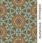 colorful seamless pattern in... | Shutterstock .eps vector #597550643