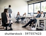 fashion start up team at work | Shutterstock . vector #597557423