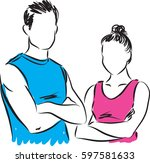 Fitness Couple Man And Woman...