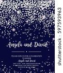 invitation for wedding ... | Shutterstock .eps vector #597593963