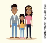 family african american together | Shutterstock .eps vector #597601553